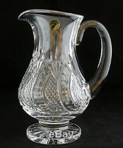 Vintage Waterford Ireland Cut Glass Irish Crystal Seahorse Pitcher 9