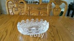 Vintage Waterford Prestige Collection Kennedy Cut Large Crystal Centerpiece Bowl