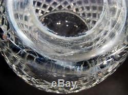 Vtg HAWKES Signed Cut Crystal DELFT DIAMOND Decanter