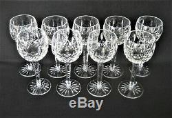 WATERFORD Cut Crystal LISMORE Pattern 9- WINE HOCKS 7 3/8 Balloon Goblets