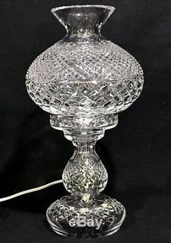 WATERFORD INISHMAAN Irish Cut Crystal 14 HURRICANE LAMP