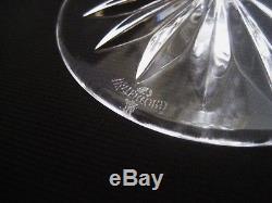 WATERFORD Ireland Cut Crystal SEAHORSE CUT PATTERN 2- MARTINI GLASSES 7 3/4
