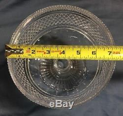 Waterford Castletown Large Punch Bowl 7 1/4 Centerpiece Irish Cut Crystal