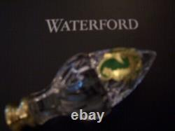 Waterford Crystal3 Kieran Hand Finished Wedge Cuts Acorn Finials (1-Pair) NIB