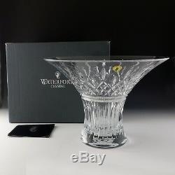 Waterford Crystal 11 Dia. LISMORE Wedge & Diamond Cut Flared Bouquet Bowl NIB