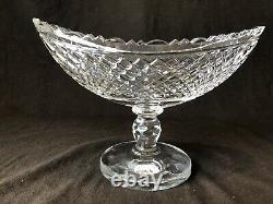 Waterford Crystal 13 Boat Bowl Prestige Collection Footed Panel Foot