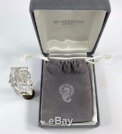 Waterford Crystal Finial RARE CUT Square Style GREAT CONDITION