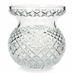 Waterford Crystal Heritage 9 Diamond & Wedge Cut Bouquet Vase (New Damaged Box)