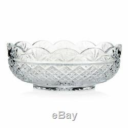 Waterford Crystal Irish Treasures 11 3rd Edition Cross & Fan Cut Oval Bowl