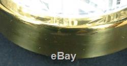 Waterford Crystal Table Lamp withShade 20 Herringbone Cut Vintage Signed Irish
