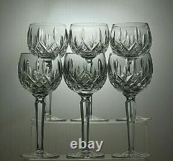 Waterford Crystallismore Cut Wine Hock Glasses Set Of 6 7 1/2 Tall