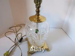Waterford Cut Crystal Brass 3 Way Table Lamp Made in Ireland