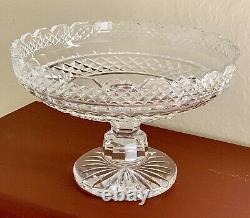 Waterford Footed Crystal Bowl By Master Waterford Cutter. Excellent Condition
