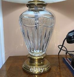 Waterford Irish Crystal 27 Pompeii Lamps w Stiffel Shades (2) Made in Ireland