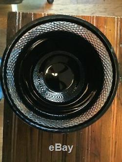 Waterford JOHN ROCHA Black Cut 10 Crystal Bowl