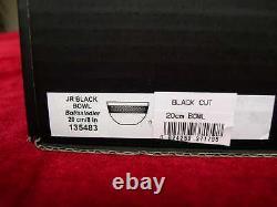 Waterford John Rocha Black Cut Bowl 8 inch 20cm Diameter Brand New Original Box