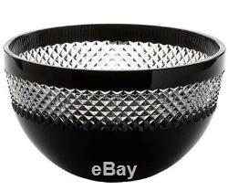 Waterford John Rocha Black Cut Bowl Cased Crystal 8 #135483 New In Box