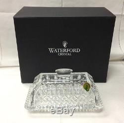 Waterford Lismore Covered Butter Dish Cut Crystal Brand New