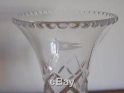 White Star Line Stuart Crystal Cut Glass Flower Vase R. M. S. Olympic